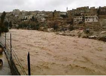 Flood water harvesting in the Zarqa River